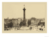 Bastille Place, July Column Posters by Helio E. Ledeley