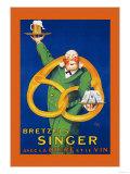 Bretzels Singer, Avec la Biere et la Vin Posters by  Lotti