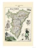 Bas-Rhin Kunstdrucke von Alexandre Vuillemin