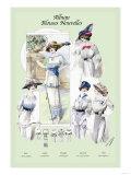 Album Blouses Nouvelles: Ladies in Flowered Hats Prints
