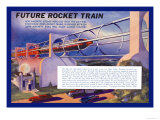 Future Rocket Train Print by H.w. Mccaulley