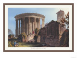 Temple of Vesta at Tivoli Print by M. Dubourg