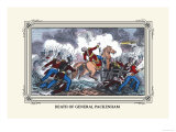Death of General Packenham Print by J. Downes