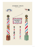Barbers' Poles and Signs Print