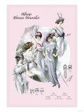 Album Blouses Nouvelles: With Hats and Parasols Posters