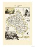 Aveyron Kunstdrucke von Alexandre Vuillemin