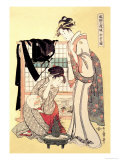 Middle Class Mother and Daughter Poster by Utamaro Kitagawa