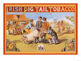 Irish Pig Tail Tobacco Poster