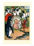 Fairies, Penguins and a Baby Prints by Rosa C. Petherick