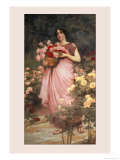 In a Garden of Roses Posters by Richard Willes Maddox