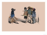 Hog and Dogs Premium Giclee Print by  Grandville