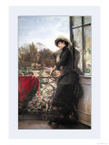 On the Terrace Premium Giclee Print by Julius Stewart