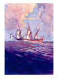 Spanish Treasure Frigate Poster by Gregory Robinson