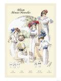 Album Blouses Nouvelles: Ladies in Patterned Dresses Prints