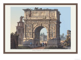 Arch of Trajan at Benevento Posters by M. Dubourg
