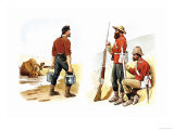 Soldiers and Farmer Prints by Richard Simkin