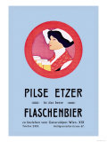 Pilznetzer is Das Beste Flaschenbier Prints by F. Sperl