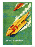 Jet-Boat of Tomorrow Posters by James B. Settles