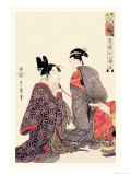 The Hour of the Tiger Lminas por Utamaro Kitagawa