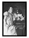 Springer Spaniel and Woman Posters