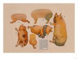 Paper Cutout Pig Dolls Prints