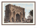 Triumphal Arch of Septimus Severus Prints by M. Dubourg