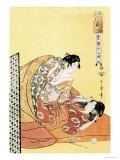 The Hour of the Dragon Prints by Utamaro Kitagawa