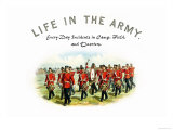 Life in the Army: Every Day Incidents in Camp, Field, and Quarters Prints by Richard Simkin