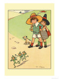 Jack and Jill Scaring the Elves Prints by Rosa C. Petherick