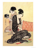 Beauties at Home Prints by Utamaro Kitagawa