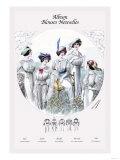 Album Blouses Nouvelles: Five White Blouses Prints