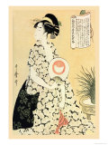 Poetry for a Beautiful Maiden Posters by Utamaro Kitagawa 