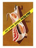 Hooked Pork Poster