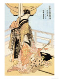 Two Musicians Prints by Utamaro Kitagawa