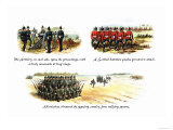The Artillery, A Scottish Battalion, and Skirmishes Prints by Richard Simkin