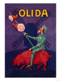 Don Quixote Riding a Pig Affiches