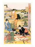 Painting in the Garden Posters by Utamaro Kitagawa 