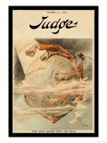 Judge Magazine: Free Trade England Wants the Earth Print by Victor