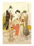 Four Women Print by Utamaro Kitagawa