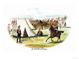 Cavalry Camp Prints by Richard Simkin