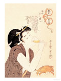 Drunken Courtesan Prints by Utamaro Kitagawa 
