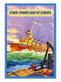 Ether-Powership of Europa Premium Giclee Print by James B. Settles