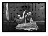 Bulldog, Master, and Pup Prints