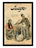 Judge Magazine: The Goose That Lays the Golden Eggs Print by Bernhard Gillam