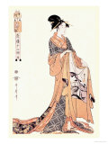 The Hour of the Hare Lámina por Kitagawa Utamaro