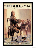 The Etude: Ben Franklin Affiches par Alan Foster