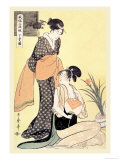 Japanese Domestic Scene Posters by Utamaro Kitagawa