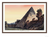 Pyramid of Caius Cestius Print by M. Dubourg