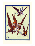 Monkeys Flew Away with Dorothy Prints by William W. Denslow