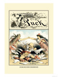 Puck Magazine: In His Second Childhood Prints by F. Graetz